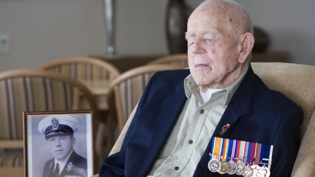 In this Sept. 11, 2009 photo supplied by the Royal Australian Navy, World War I Navy Veteran Claude Choules sits in the Gracewood Retirement Village lounge room in Salter Point, on the suburb of Perth, Western Australia. Claude Stanley Choules, the last known combat veteran of World War I, has died, Thursday, May 5, 2011 at a nursing home in the Western Australia city of Perth, his family says. He was 110.