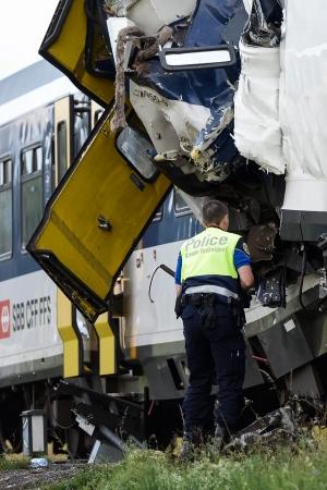 Trains Collide Head-On in Switzerland