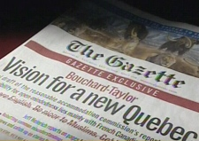 Several chapters of the final draft were obtained by The Montreal Gazette.