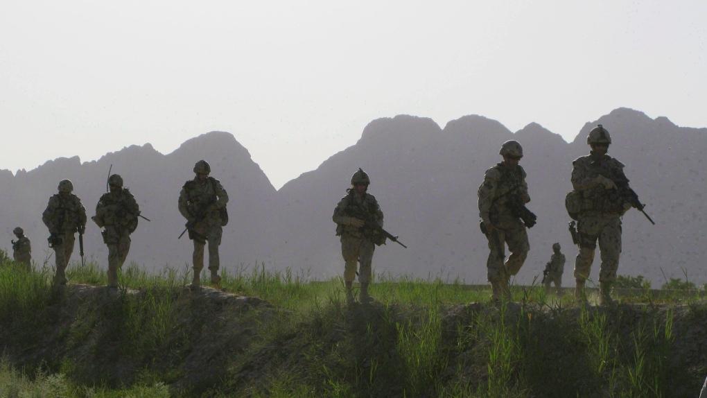 Canadian soldiers on patrol in Afghanistan