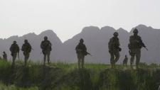 Canadian soldiers on patrol in Afghanistan