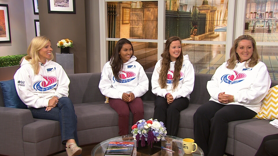 Four of the five Ontario women who attempted to make history by swimming the length of the lake appear on CTV's Canada AM on Tuesday, July 30, 2013.