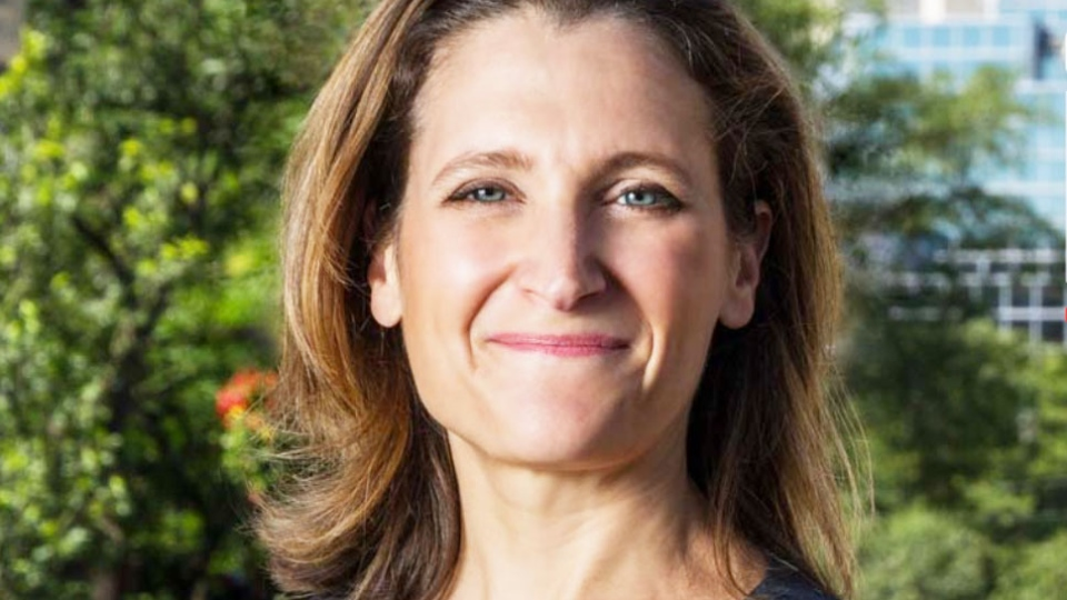 Author and journalist Chrystia Freeland will be vying for the Liberal nomination in Toronto Centre, the seat left vacated by Bob Rae. Freeland is pictured in this image from her website.