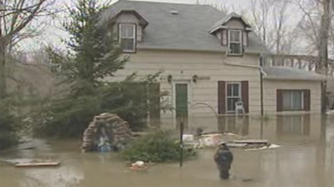 Multiple homes near the village of St. Lazare have been affected.
