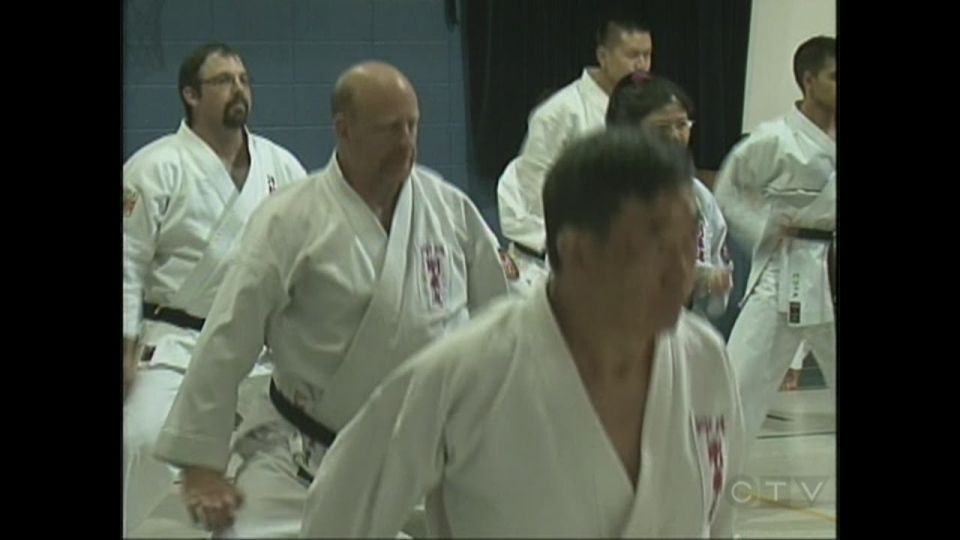 Many students came to train with the international karate masters in Aurora this week.
