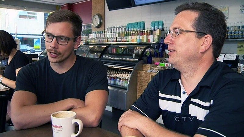 Edmontonian Bitcoin-users speak about the convenience of using the new currency at the Coffee house Remedy Cafe.