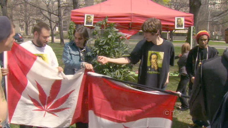 Tens of thousands marched at Queen's Park to show their support in the legalization of marijuana on Saturday, May 7, 2011.