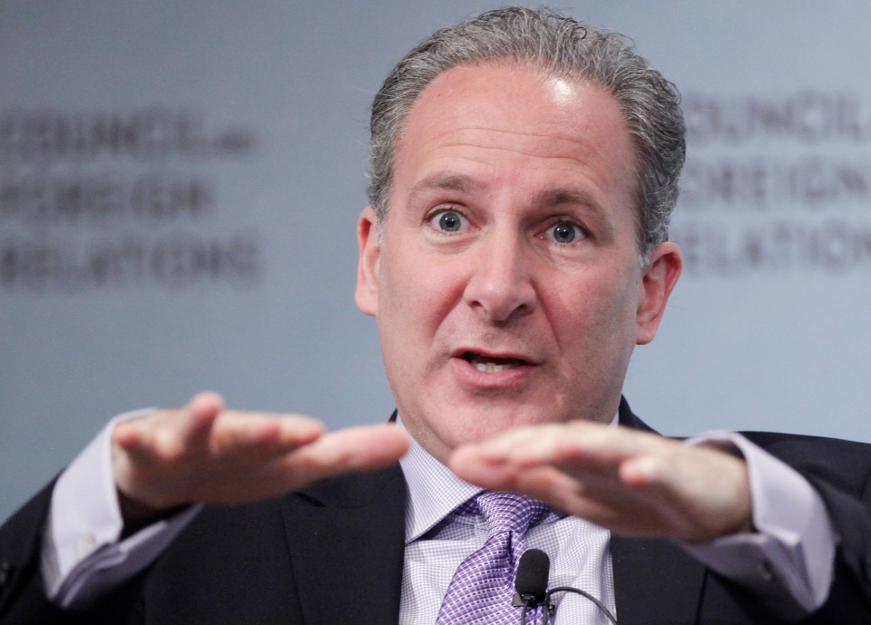 Peter Schiff, President and Chief Global Strategist, Euro Pacific Capital, talks about the Chinese economy and foreign trade at the Council on Foreign Relations, Wednesday, March 9, 2011 in New York. (AP / Mark Lennihan)