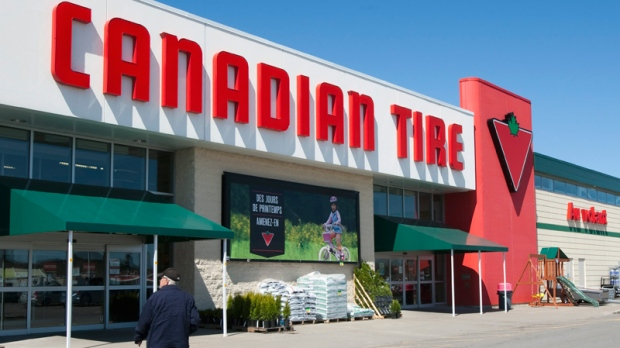 A man walks into a Canadian Tire store in Levis, Que., Monday, May 9, 2011. (Jacques Boissinot / THE CANADIAN PRESS)