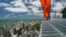 The CN Tower announced on Monday that it will open Edge Walk, a five-foot wide ledge encircling the top of the structure's main pod 116 stories above the ground, at the beginning of the summer.