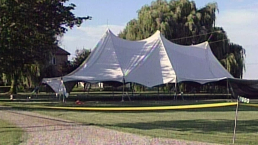 One man has died and three are in critical condition after they were electrocuted while putting up a large tent in Watford, Ont.