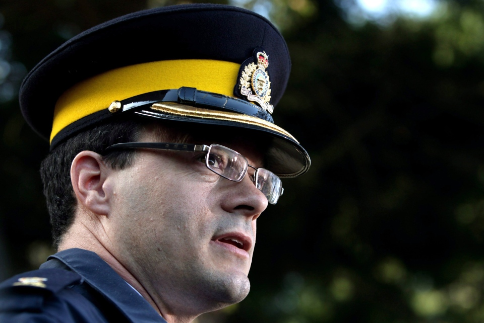 RCMP Insp. Tim Shields speaks to reporters in Vancouver, B.C., on Friday April 9, 2010. (Darryl Dyck / THE CANADIAN PRESS)