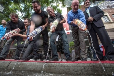 Vodka dump in protest of Russia's anti-gay laws