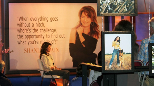 Canadian singer Shania Twain appears on Canada AM to promote her autobiography, 'From the Moment On', Monday, May 9, 2011.