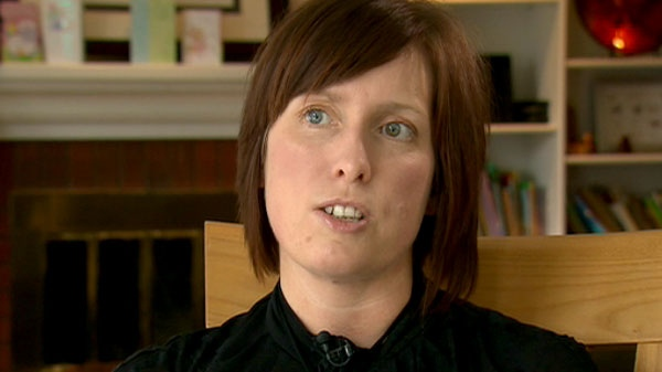 Donna Hartlen, who developed GBS a few days after receiving the H1N1 vaccine, is seen speaking to CTV News in this undated image.