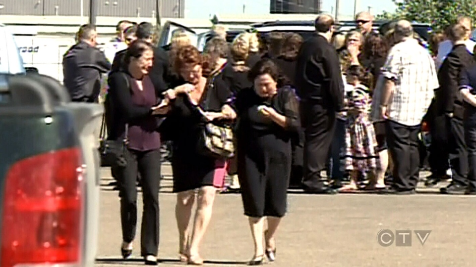 A funeral was held for the teens that died in the fatal crash in Saskatchewan, Saturday, August 3, 2013.
