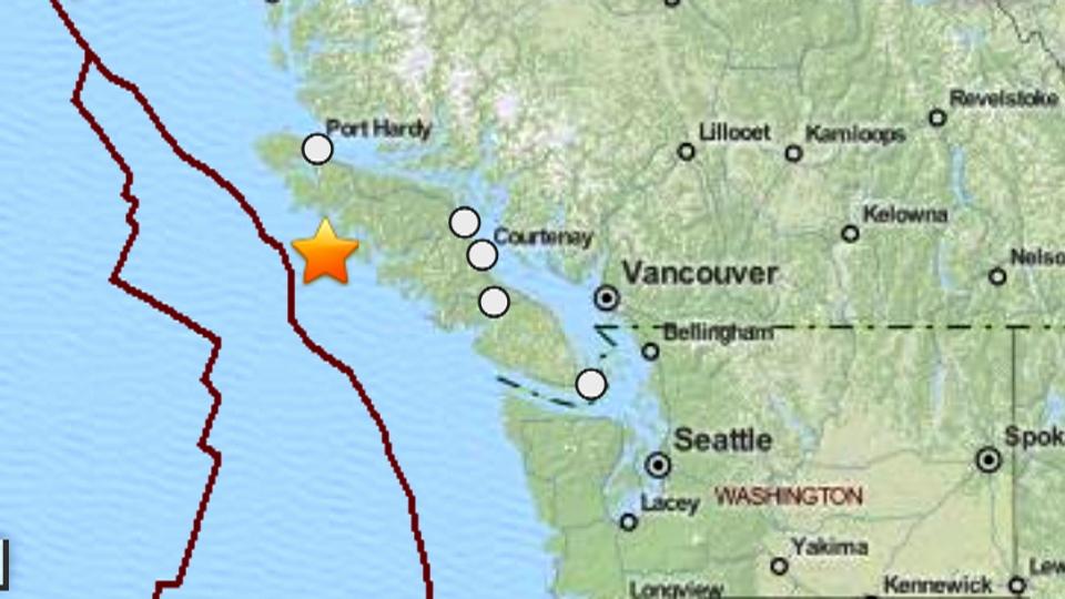 A 5.5 magnitude earthquake struck