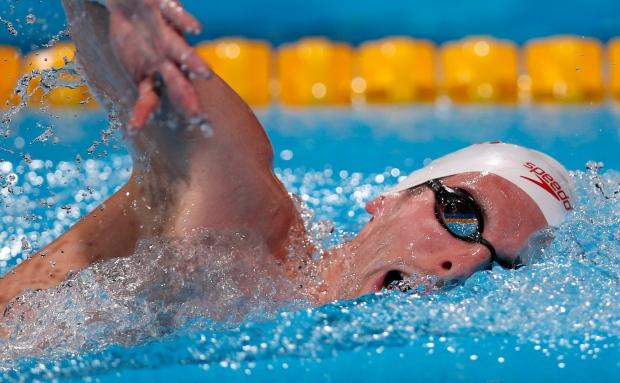 Ryan Cochrane takes silver at world swim champs