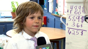 CTV Montreal: Boy takes on African water shortage