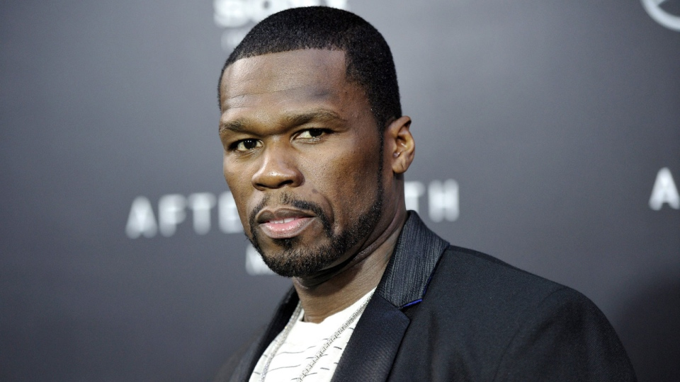 Rapper Curtis '50 Cent' Jackson attends the 'After Earth' premiere at the Ziegfeld Theatre in New York, May 29, 2013. (Evan Agostini / Invision)