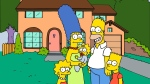 This undated frame from the series 'The Simpsons,' shows the popular cartoon family posing in front of their home. (Fox Broadcasting Co.)