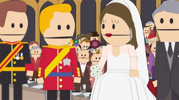 Scene from the episode 'Royal Pudding' of 'South Park'