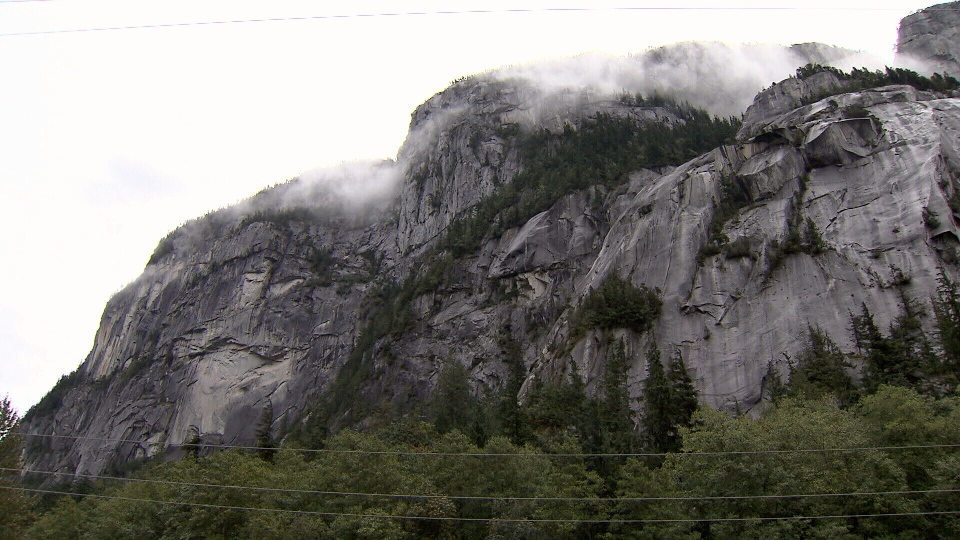 A woman has died after falling from the Stawamus Chief in Squamish, B.C. Sunday, according to police. (CTV)