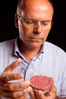 Scientists grill first lab-grown burger