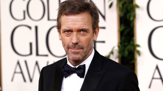 Hugh Laurie arrives for the Golden Globe Awards Sunday, Jan. 16, 2011, in Beverly Hills, Calif. (AP / Matt Sayles)