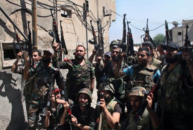 Syrian troops ambush rebels