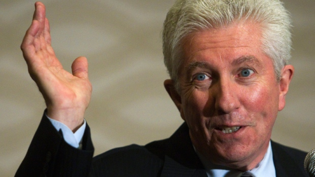Gilles Duceppe speaks to reporters at a news conference in Laval, Que., Wednesday, May 11, 2011.  (Ryan Remiorz / THE CANADIAN PRESS)