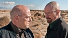 "This publicity image released by AMC shows Dean Norris as Hank Schrader, left, and Bryan Cranston as Walter White in ""Breaking Bad."" (AP Photo/AMC, Frank Ockenfels)"