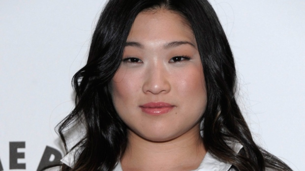Jenna Ushkowitz arrives at the Glee PaleyFest 2011 panel in Beverly Hills, Calif. on Wednesday, March 16, 2011. (AP / Dan Steinberg)