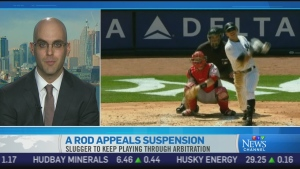 CTV News Channel: A-Rod appeals suspension