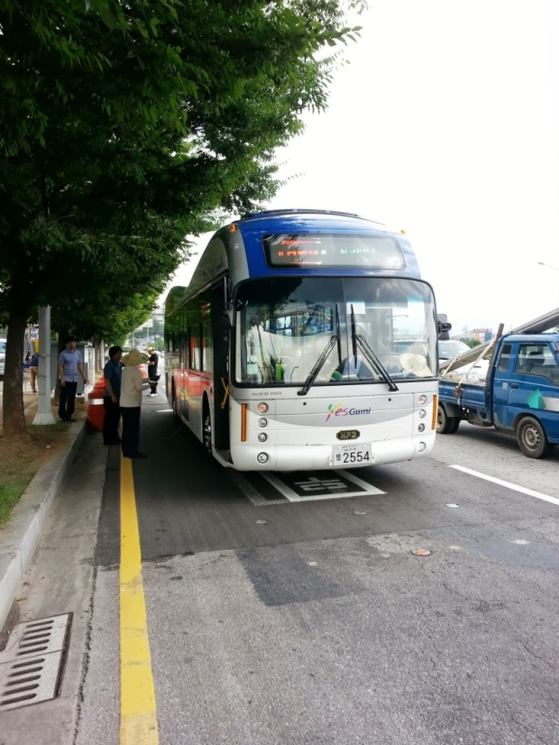 OLEV buses being tested in South Korea