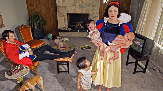 Vancouver-based photographer Dina Goldstein portrays her vision of fallen Disney princesses. (Courtesy Dina Goldstein)