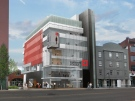 This artist's rendering provided by Fanshawe College shows the school's new Centre for Digital and Performance Arts in downtown London, Ont.