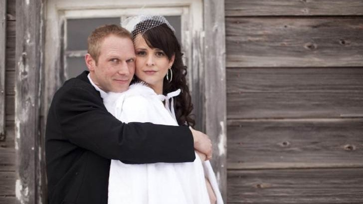 Tim Bosma is pictured with his wife Sharlene in this undated photo.