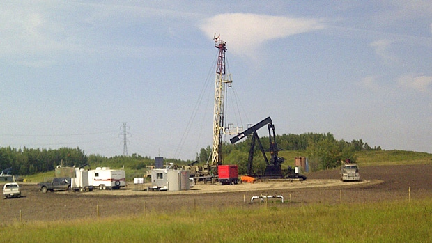 One man was killed after a workplace incident at this service rig at one of New Star Energy's sites near Highvale Friday.
