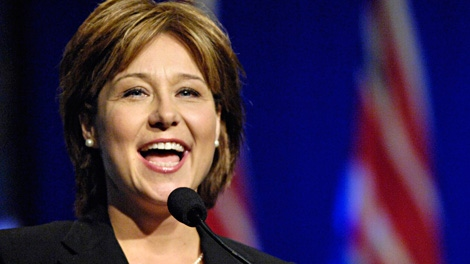 B.C. Premier Christy Clark speaks at the B.C. Liberal Party Convention in Penticton, B.C. on Saturday May 14, 2011. Clark has told delegates at a Liberal party convention in Pentiction that she will make changes to the HST by the end of this month. (THE CANADIAN PRESS/Daniel Hayduk)
