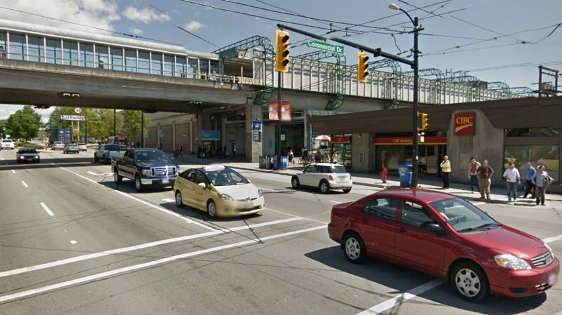A woman was stabbed on Sunday Sept. 20, 2020 in the Safeway parking lot near the intersection seen here in an undated file photo of Commercial Drive and East Broadway.