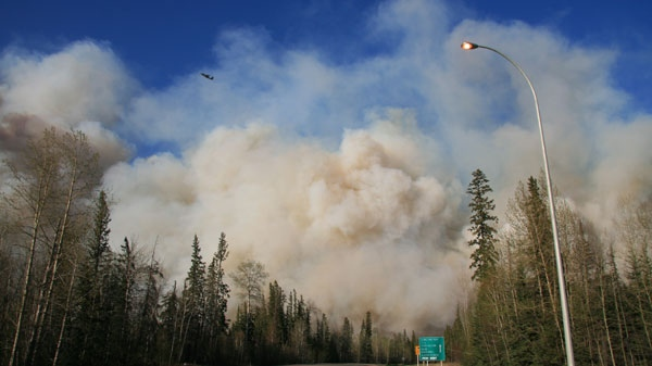 Slave Lake, Alberta is under a state of emergency, after two wildfires began raging on Saturday, May 14, 2011. (Courtesy Michael Kapusta)