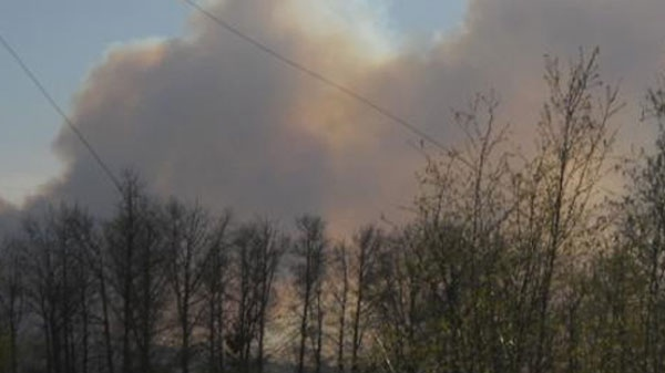 MyNews contributor Loretta Elias captured this image of a forest fire in Slave Lake, Alta., on Saturday, May 14, 2011.