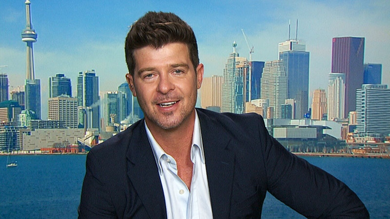 Robin Thicke speaks to Canada AM from Toronto, Tuesday, Aug. 13, 2013.