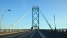 The Ambassador Bridge is shown in this file photo in Windsor, Ont., on Sunday, Aug. 4, 2013. (Melanie Borrelli / CTV Windsor)