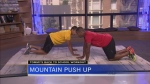 Fitness expert Tommy Europe demonstrates some exercises to get kids into top shape.