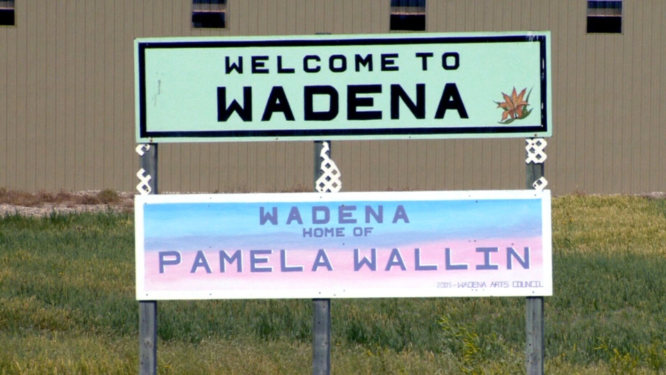 A sign in Wadena, Sask., is shown on Tuesday, Aug. 13, 2013.