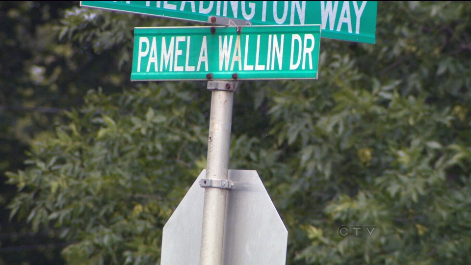 A street named after Pamela Wallin in Wadena, Sask., is shown on Tuesday, Aug. 13, 2013.