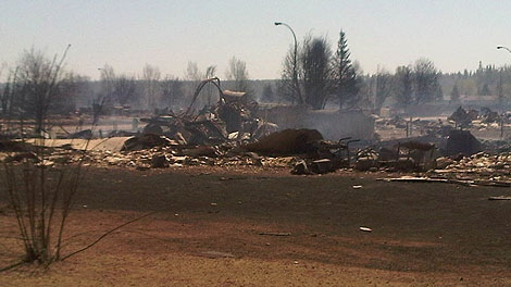 CTV News gets a closer look at the devastation in Slave Lake on Monday, May 16, 2011.
