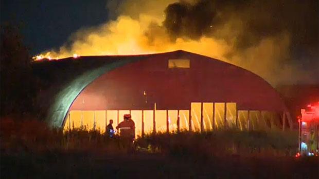 Calgary fire crews knock down blaze at building
